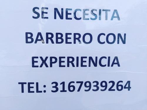 se necesita barbero con experiencia