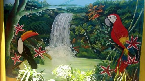 se pintan murales, diseños artísticos a elección del cliente
