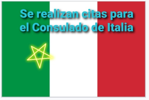 se realizan citas para el consulado de italia