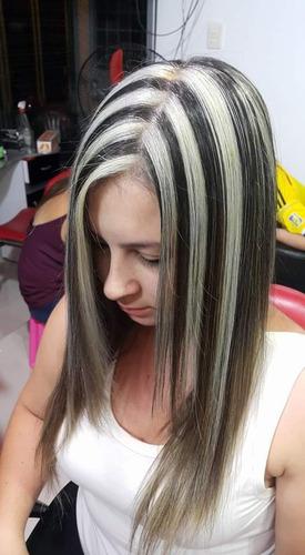 se realizan mechas rayos keratina maquillaje peinados cortes