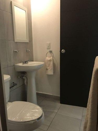 se renta departamento amueblado, 2 recámara, 2 baños, planta b, por el refugio..