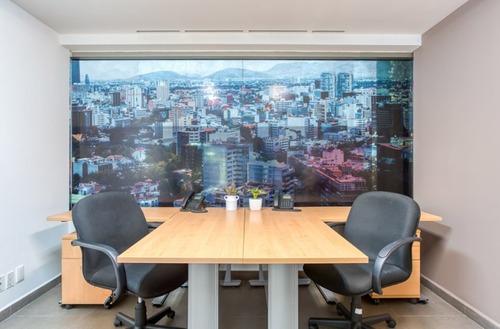 se renta excelente oficina amueblada para 4-6 personas en interlomas.