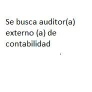 se solicita auditor(a) externo(a) contable