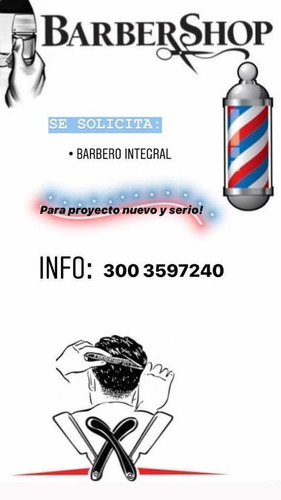 se solicita barbero integral