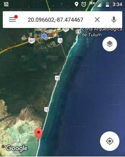se ubica en 3.5 km del arco maya de sian ka`an