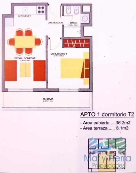 se vende apartamento a estrenar de 1 dormitorio en maldonado.-ref:2121