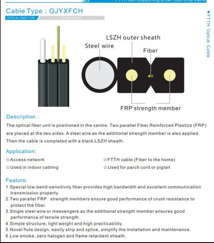 se vende cable drop para fibra optica  rollo de 1000mtr.