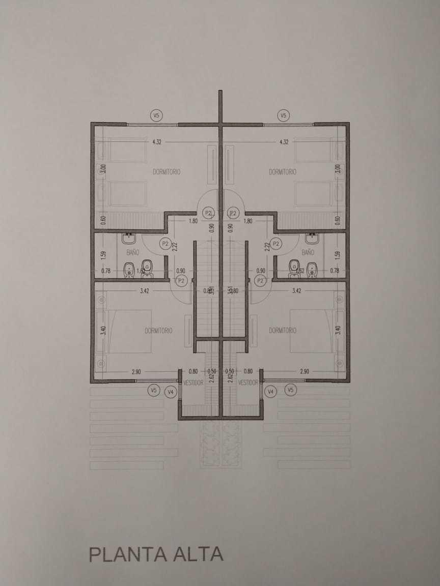 se vende duplex de 2 dorm en villa san nicolas preventa