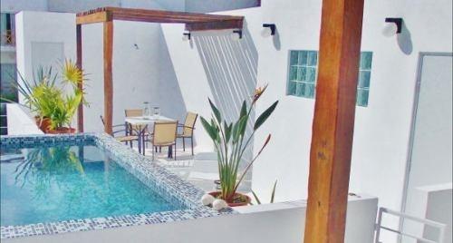 se vende edificio con 3 departamentos av 20 playa del carmen p1044