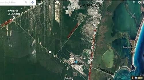 se vende excelente terreno en bosques del caribe cancún p2227