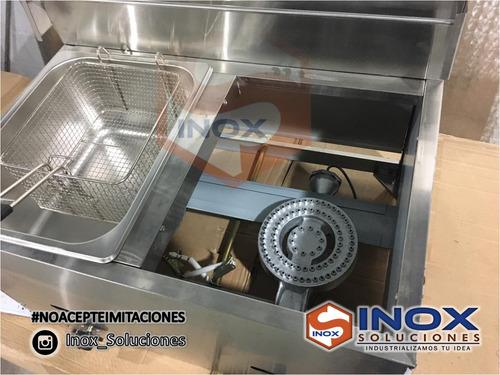 se vende freidora nueva a gas 6l doble canasta