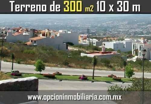 se vende hermoso terreno en cumbres del cimatario, 300 m2 -