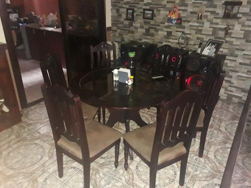 se vende juego de comedor 6 sillas