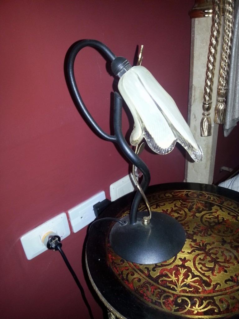 Se vende lampara de noche de cristal de murano luis xv u for Lampara de noche castorama