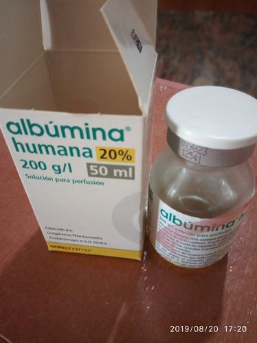 se vende libro de albumina humana 20%