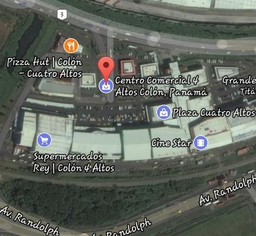 se vende local comercial de 360 m2 en plaza 4 altos, colon