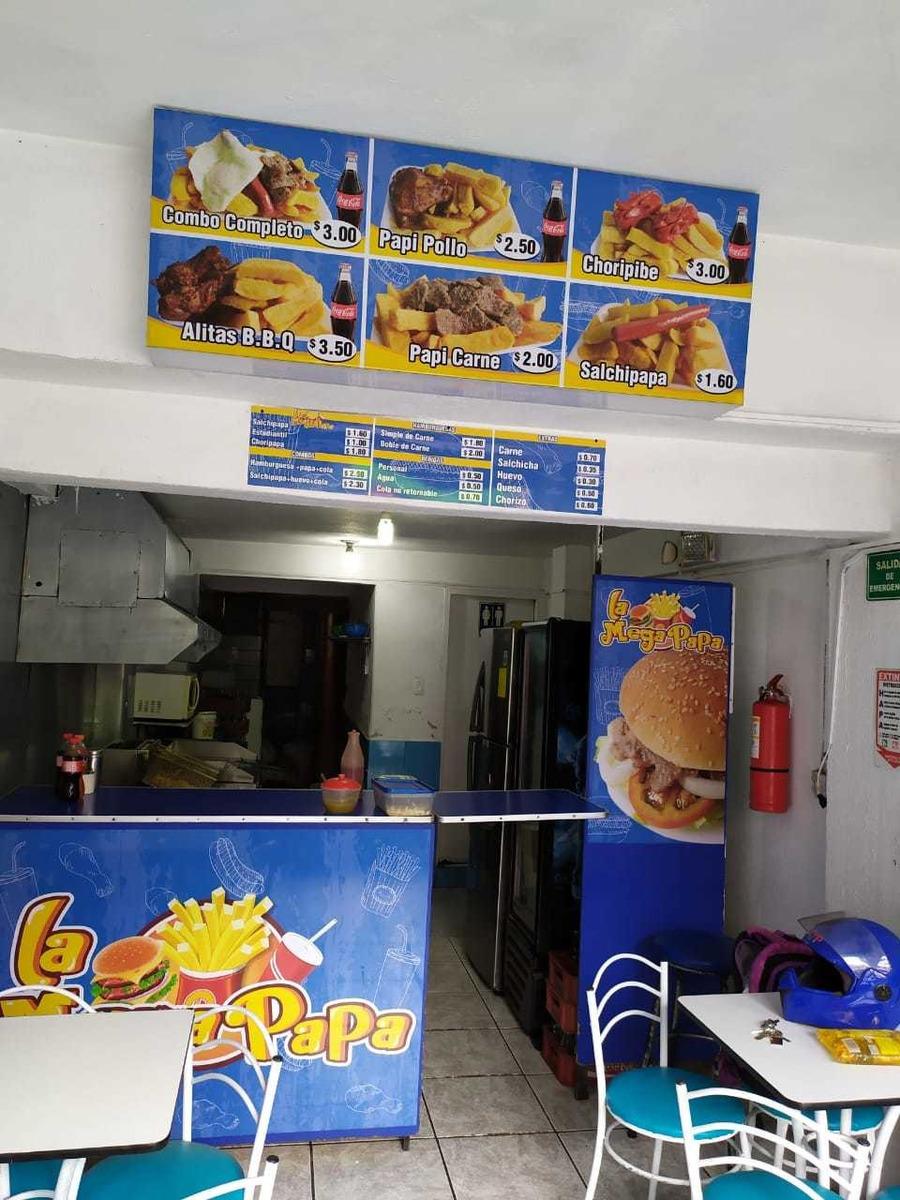 se vende local de comida rápida info: 0997671080