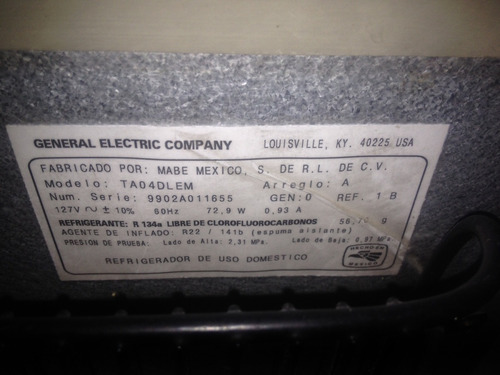 se vende nevera ejecutiva general electric para reparar