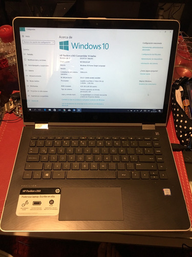 se vende notebook hp pvilion convertible