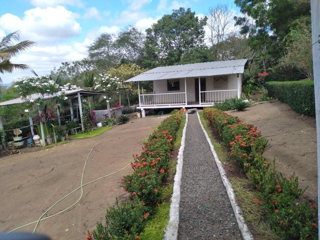 se vende terreno de 6.256m cuadrados, con casa. en tosagua