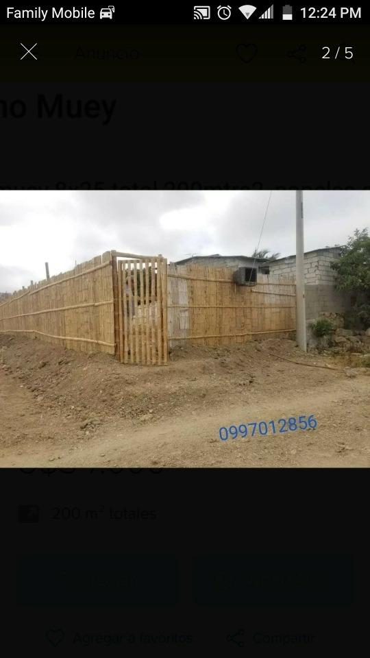 se vende terreno en salinas (muey) 200 mtrs2