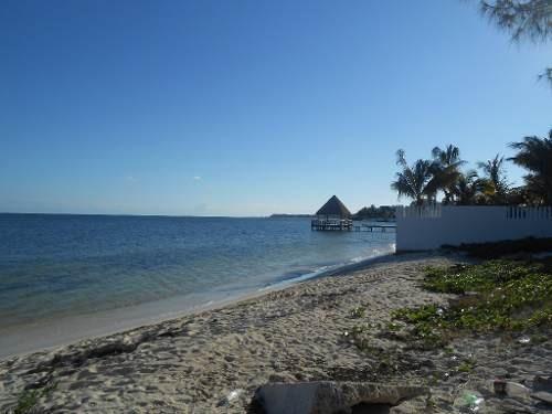 se vende terreno frente al mar puerto morelos p1124