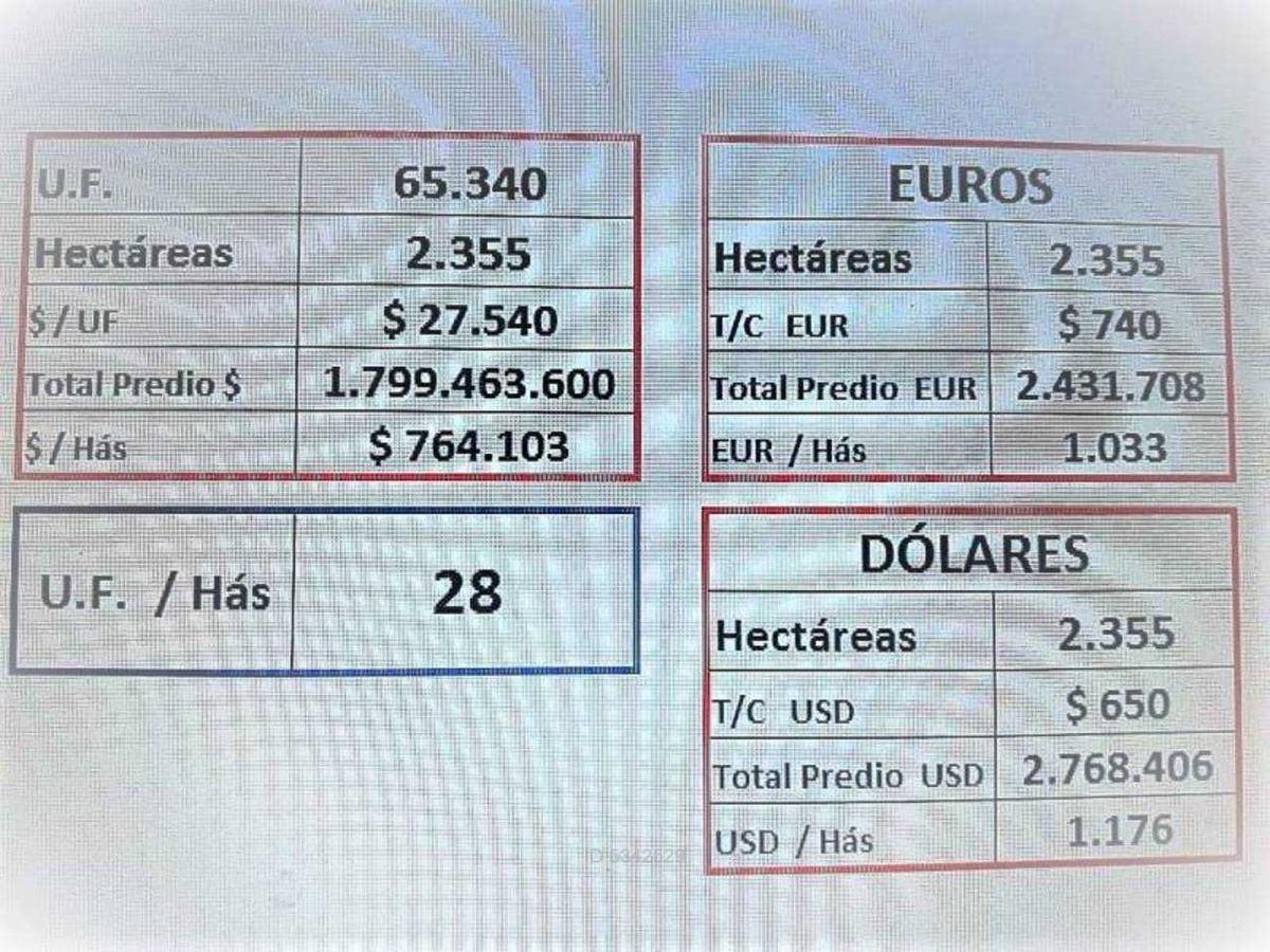 se venden 2.355 hectareas sur de chile c