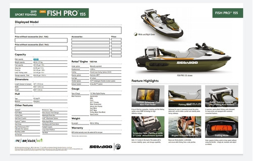 sea-doo pro fish 155 astillero victoria