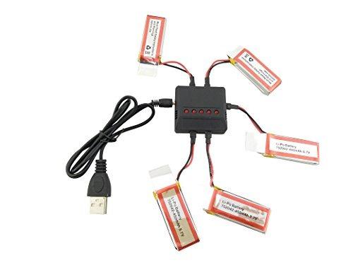 sea jump 5 unids 3.7 v 450 mah bateria y cargador para udi u