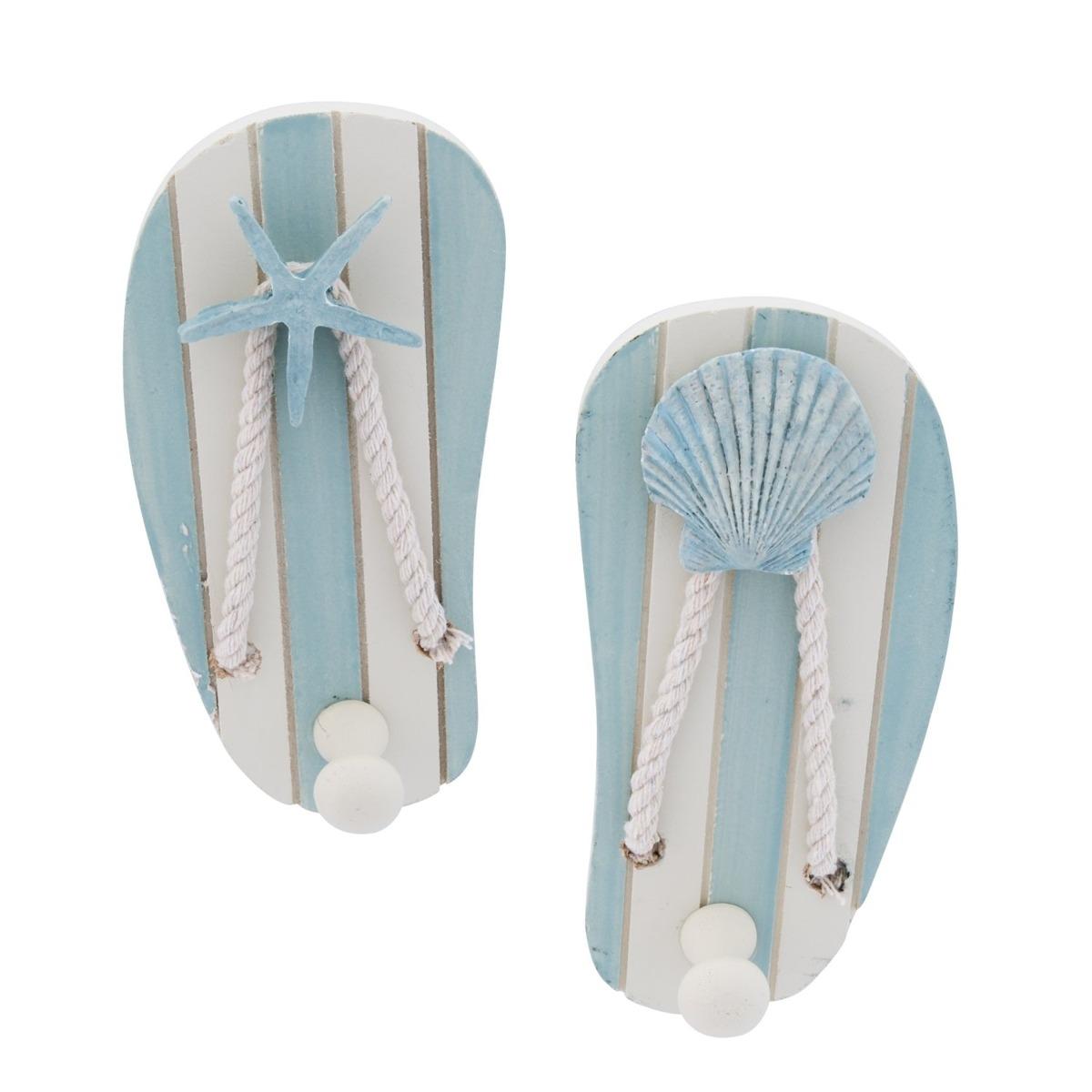 73ce64638afd Sea shell starfish sandals flip flops wood wall hooks decor jpg 1200x1200 Shell  flip flops