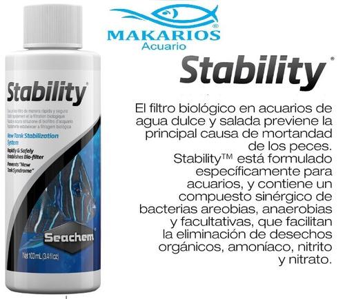 seachem stability 50ml activador biológico ciclado acuario