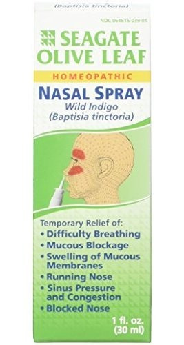 seagate products homeopatico olive leaf spray nasal (paquete
