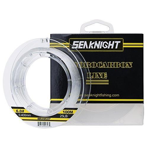 seaknight 100% fluorocarbon fishing line 100m / 110yds invis