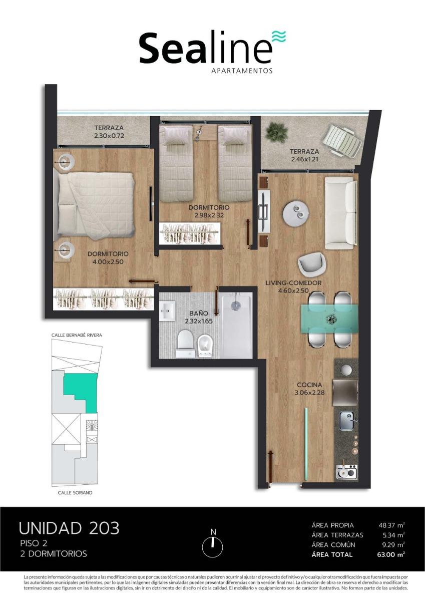 sealine 2 dormitorios al frente