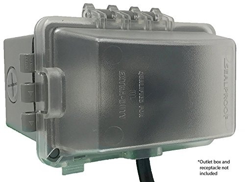 sealproof 1gang resistente a la intemperie en uso enchufe de