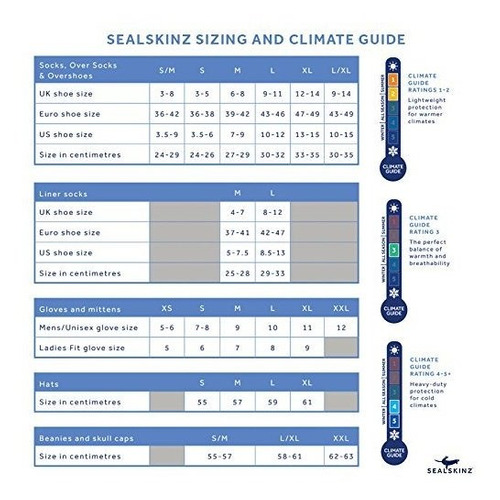 sealskinz 100% calcetin impermeable y transpirable apto para