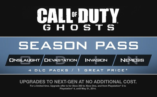 season pass call of duty ghosts ps3 playstation 3