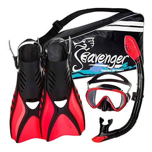 seavenger advanced snorkeling combo con visión amplia single