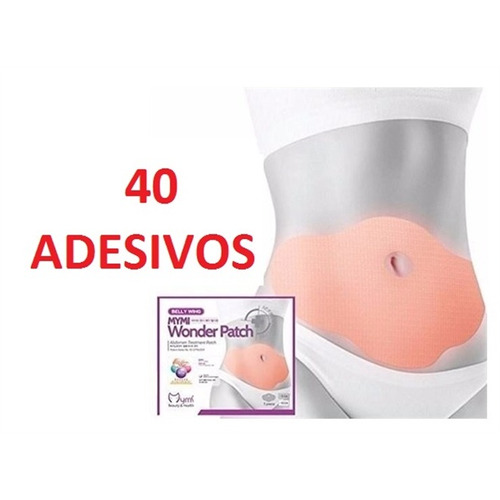seca barriga wonder patch up body emagrecedor kit 40 peças