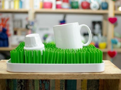 seca platos escurridor diseño pasto + bandeja - 38 x 25 cm