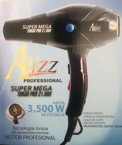 secador alizz de 3500w con tecnologia profecional 3500w