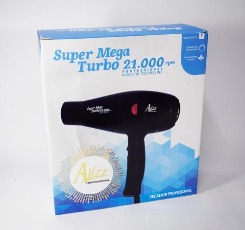 secador alizz profesional 2400w super mega turbo pro 21.000