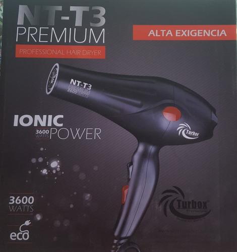 secador cabello nt-t3 premium turbox carbono profesional
