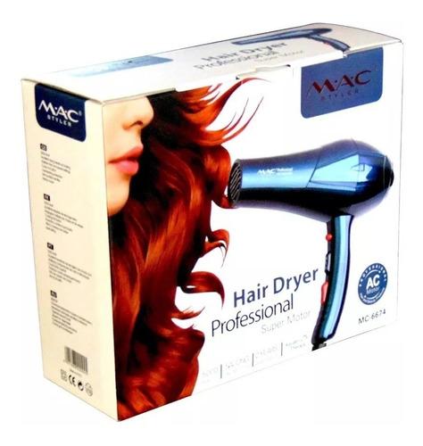 secador cabello profesional 5000w mac styler dos boquillas