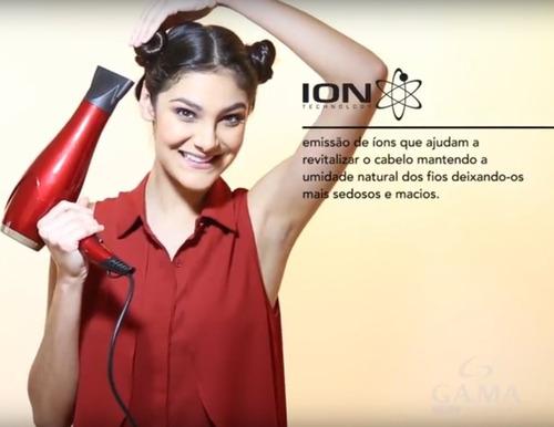 secador cabelos profissional lumina íon motor ac 2200w 110v