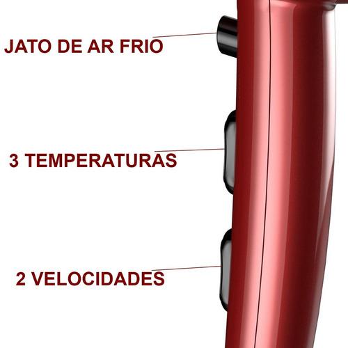 secador de cabelo gama 2200w salão prancha cerâmica 410°f