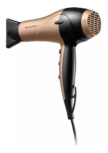 secador de cabelo gold dourado multilaser 220v modelo eb020