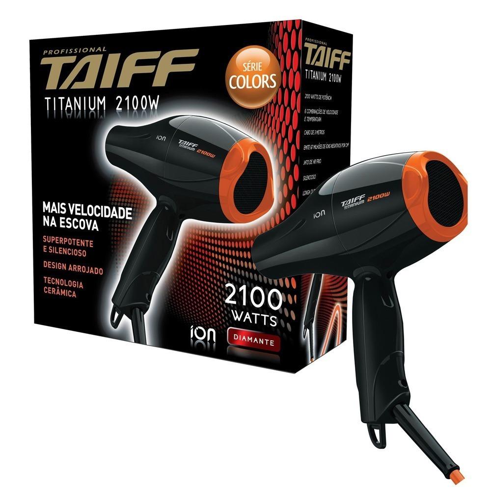 1cd8692e8 secador de cabelos taiff titanium color 2100w profis 110v. Carregando zoom.