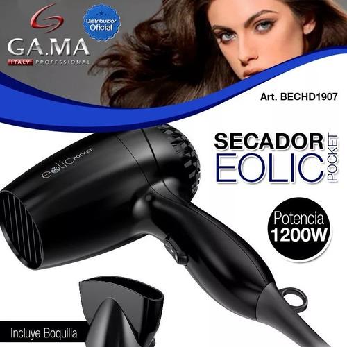 secador de pelo compacto 1300w ga.ma eolic pocket
