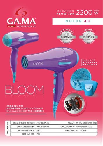 secador de pelo gama bloom eleganza ion 2400 w  colores